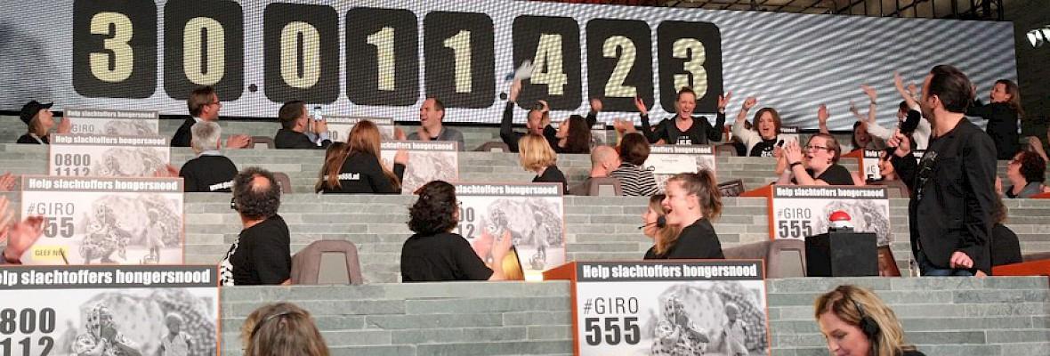 Actie Giro 555 levert 30 miljoen op