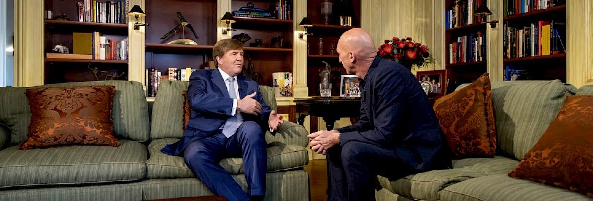 Interview koning Willem-Alexander bij NOS en RTL