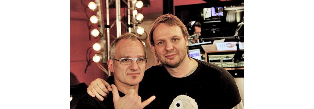 Jeroen van Inkel en Rob Stenders op Ice Radio