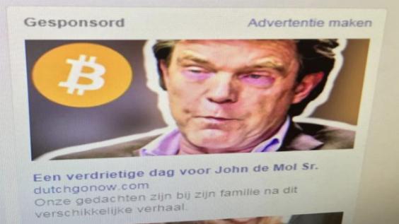 Naam De Mol misbruikt bij oplichting