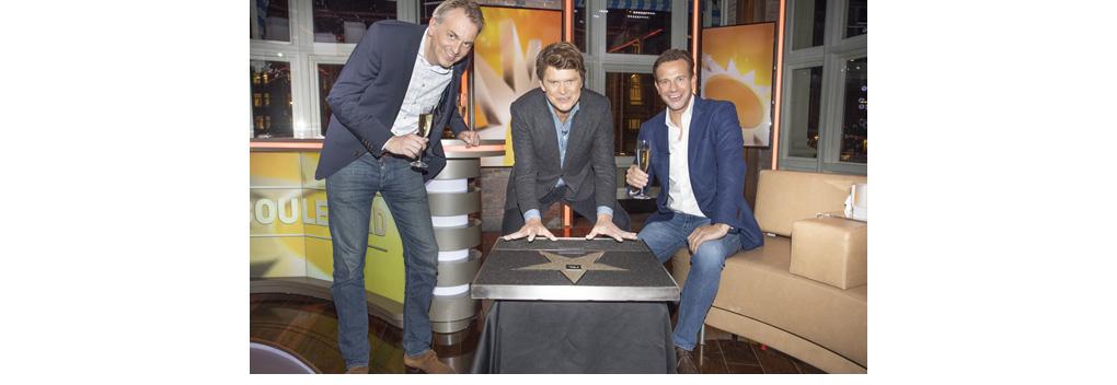 Van Erven Dorens vereeuwigd op Walk of Fame van RTL
