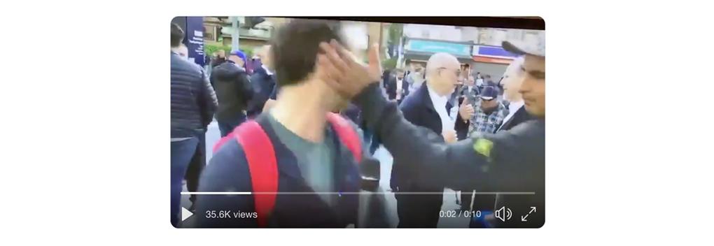Aangifte na geweld Ajax-supporter tegen Telegraaf-journalist en cameraman