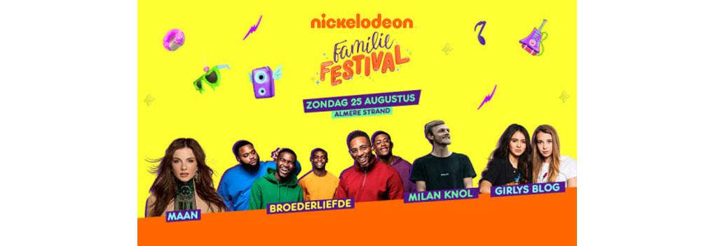 Nickelodeon Familie Festival op 25 augustus in Almere