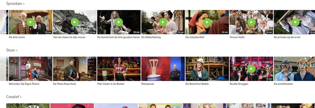 NPO Start lanceert kijkomgeving met Nederlandse kinderprogramma's