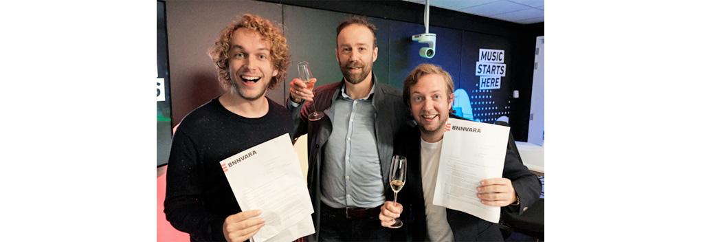 Mark en Rámon verlengen contract bij NPO 3FM