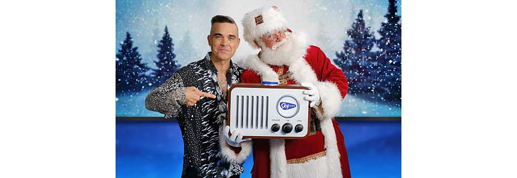 Robbie Williams opent Sky Radio The Christmas Station