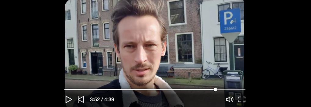 Jeroen Koopman van NewBe presenteert dagelijkse vlog