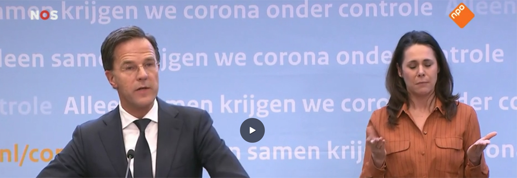 7.575.000 kijkers voor persconferentie Mark Rutte