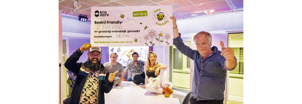 Campagne Bee Friendly succes bij KRO-NCRV