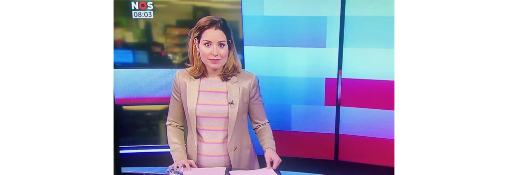 Amber Brantsen opnieuw onwel tijdens uitzending NOS Journaal