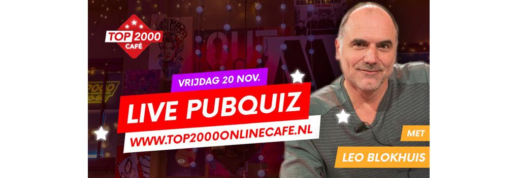 Top 2000 pubquiz met Leo Blokhuis in Online Café breekt record