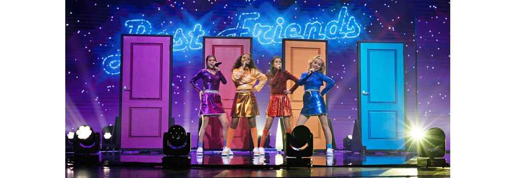 Unity wordt vierde tijdens het Junior Eurovisie Songfestival