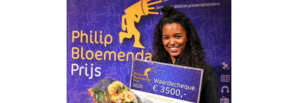 Sosha Duysker wint Philip Bloemendal Prijs