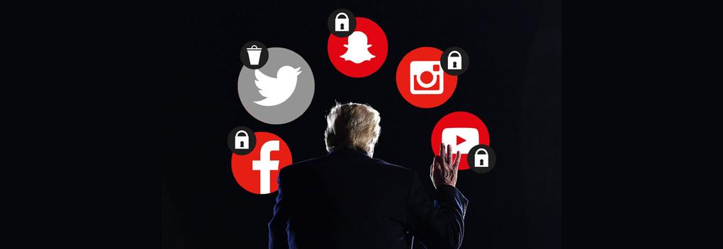 Sociale media scheidsrechters over vrije woord