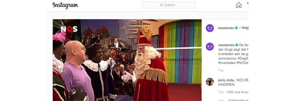 Instagram verwijdert NOS-beelden met Zwarte Piet