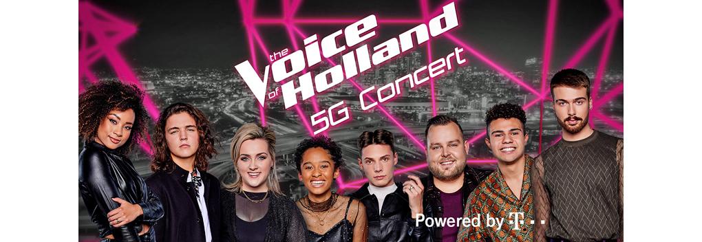 Primeur: live The Voice of Holland 5G-concert