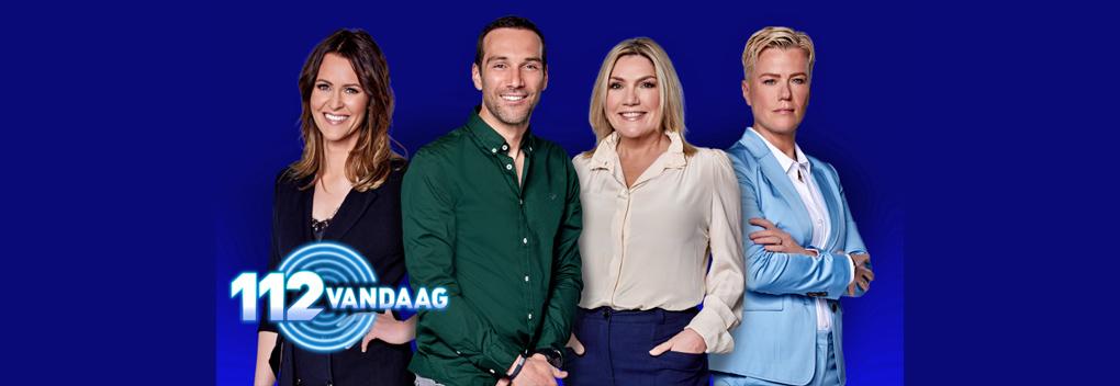 Kirsten Westrik, Pim Sedee en Gallyon van Vessem presenteren 112 Vandaag
