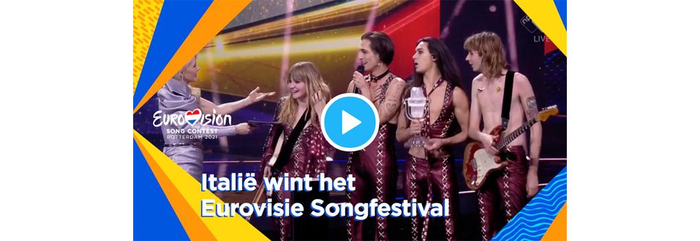 Grote favoriet Italië wint Eurovisie Songfestival