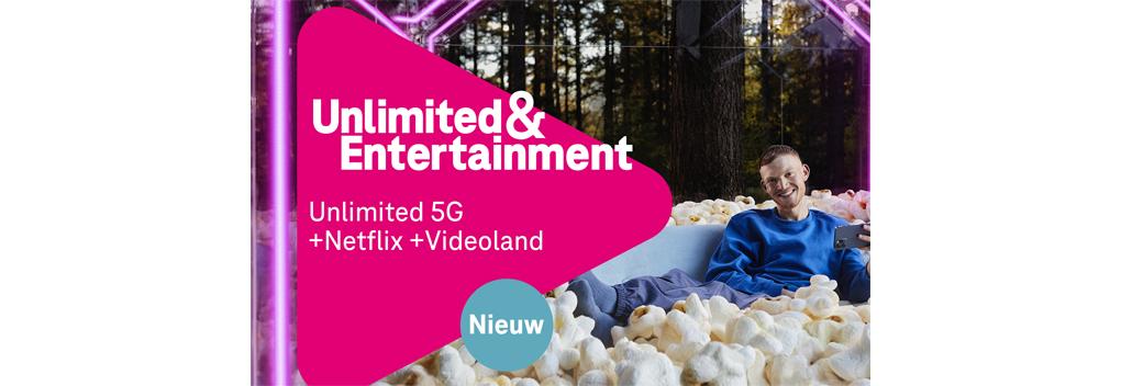 T-Mobile biedt Netflix en Videoland in Unlimited & Entertainment