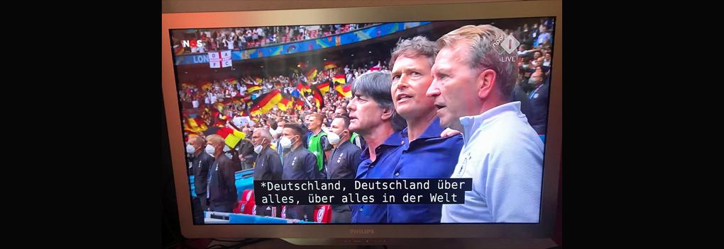 Excuses NPO na ondertiteling 'Deutschland über alles' voor EK-wedstrijd
