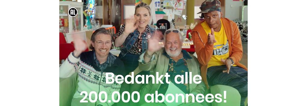 Het Klokhuis heeft 200.000 abonnees op YouTube