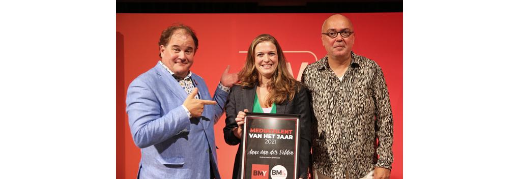 Anne van der Velden (BNNVARA) BMYoung Mediatalent van het Jaar