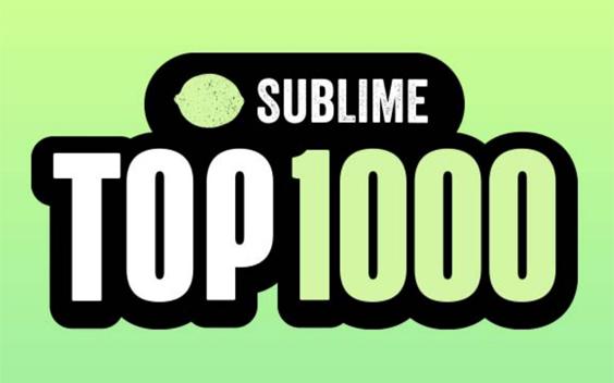 Sublime komt met Top 1000